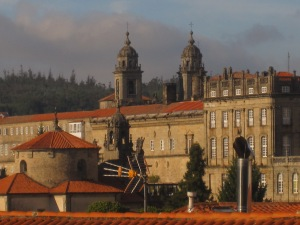 View of the Cathedral in Santiago de Compostela from the Parque Alameda