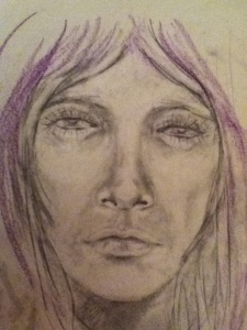 Graphite and pastel on Cartridge - original artwork by Maria-Xosé Phillips