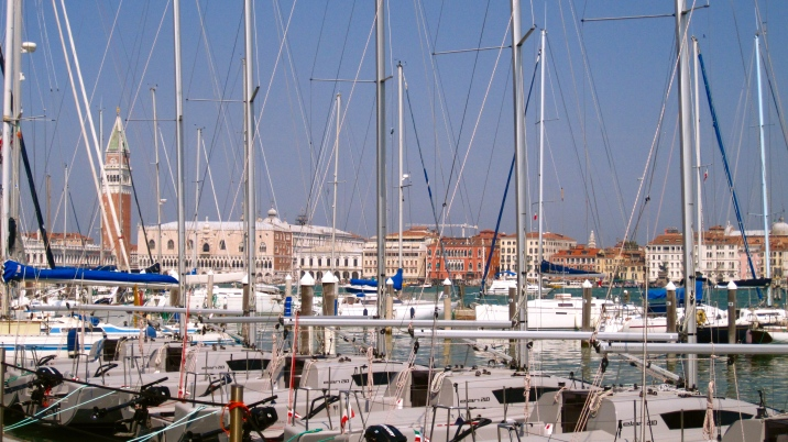 View of the Doge's Palace from St.Giorgio harbour