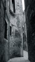 Curved alley-way, Santa Lucia, Venice