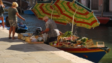 Local greengrocer, Murano, Venice, Italy