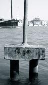 Concrete mooring post, La Giudecca, Venice