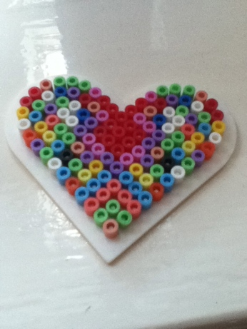Hamma bead heart made for me by my daughter Grace