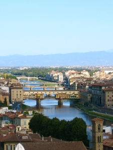 Il Ponte Vecchio, Florence, View from the Green David