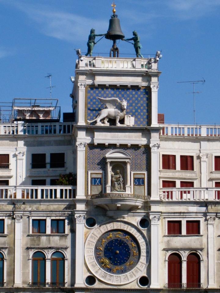 Zodiac clock St Mark's Square, Venice, Italy