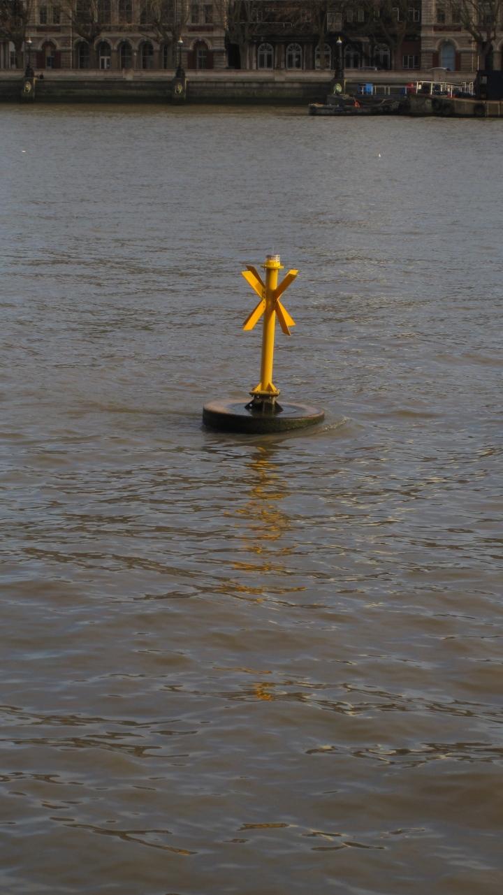 Buoy on the Thames, London, UK