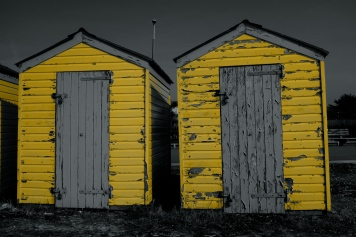 Yellow Beach Huts
