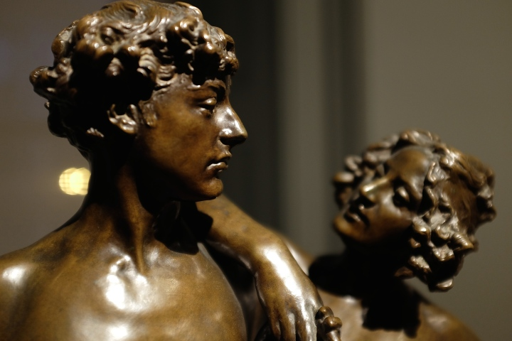 Bronze figures, Smithsonian Portrait Museum, Washington DC